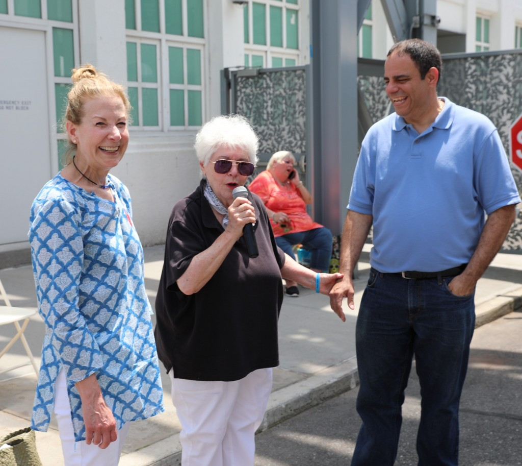 Councilman Costa Constantinides (far right), with Mount Sinai Queens Executive Director Caryn A. Schwab and UCCA President Rose Marie Poveromo.